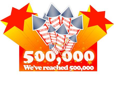 Half a million hits for I Heart Noise!