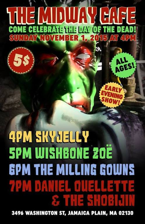 Skyjelly - Wishbone Zoe - Milling Gowns - Midway Cafe Poster