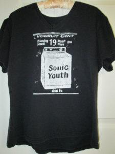 Pre-owned Vintage 1996 Sonic Youth Belgium Tour T-Shirt (Washing Machine) Design