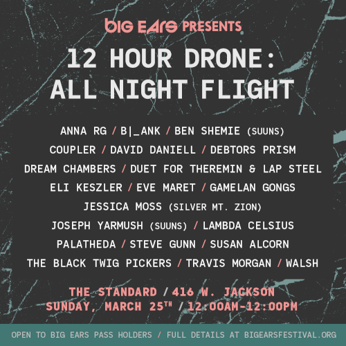 12 Hour Drone at Big Ears 2018 – Poster
