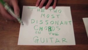 The Two Most Dissonant Chords on the Guitar