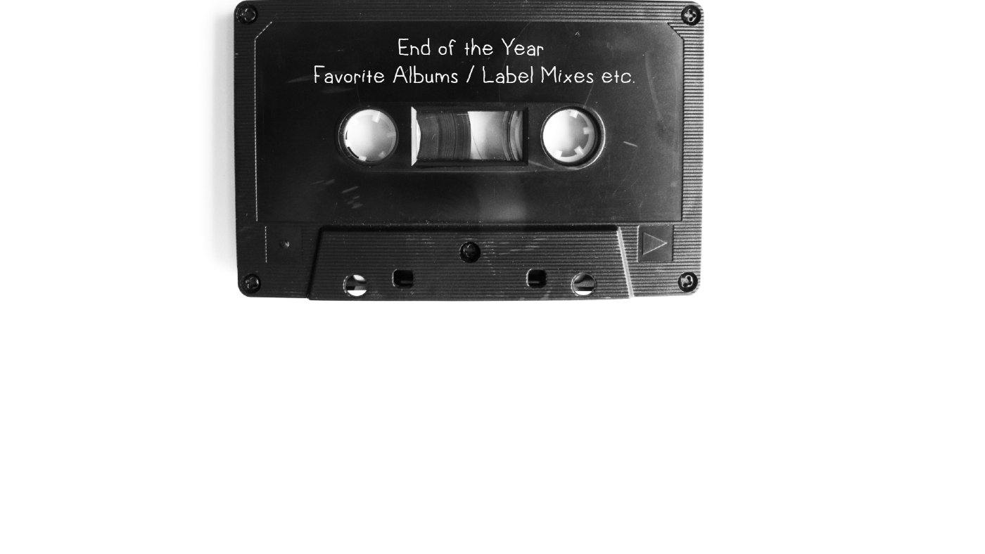 End of the Year Favorite Albums Label Mixes