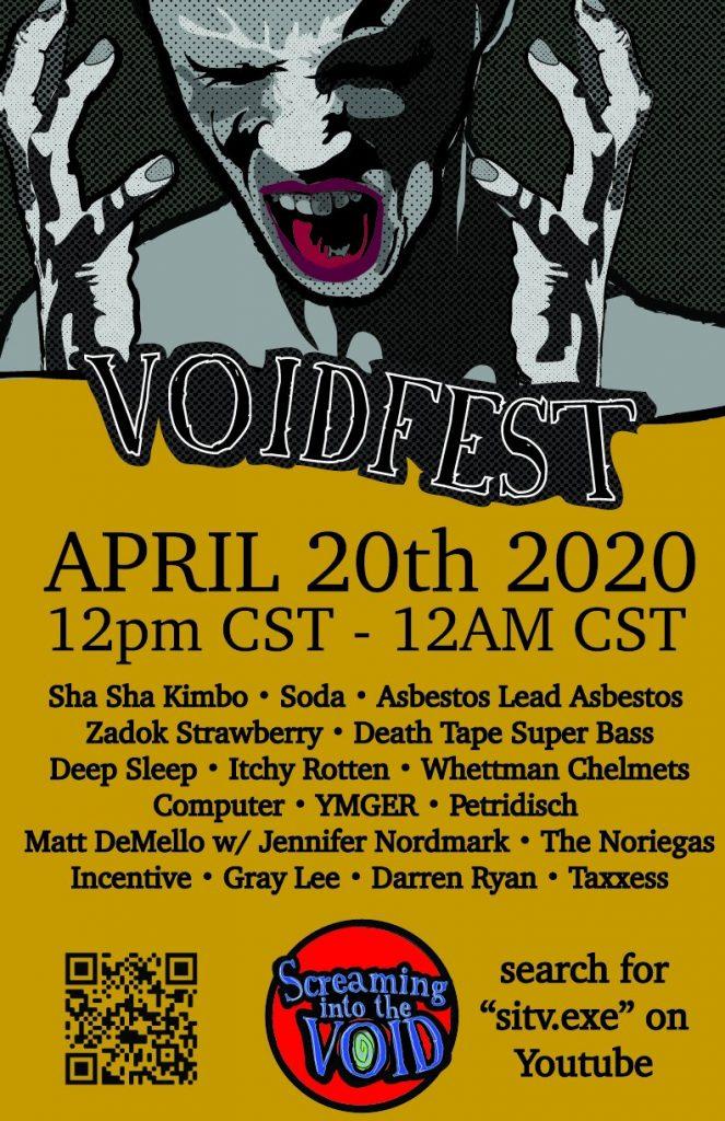 Upcoming Livestreams / Online Shows / Music Festivals – Voidfest